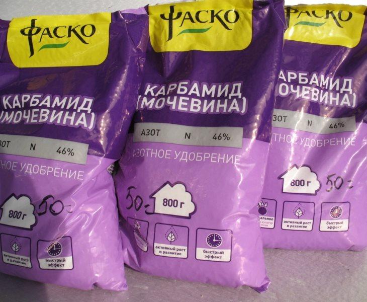 Упаковки карбамида